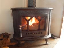 and woodburner